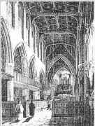 A drawing of Trinity during Victorian times before the last reordering of the church.