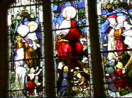 The Entry into Jerusalem of Jesus - stained glass window in the Marler Chapel.