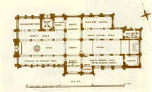 A plan of Holy Trinity Church in 1870 by T W Whitley